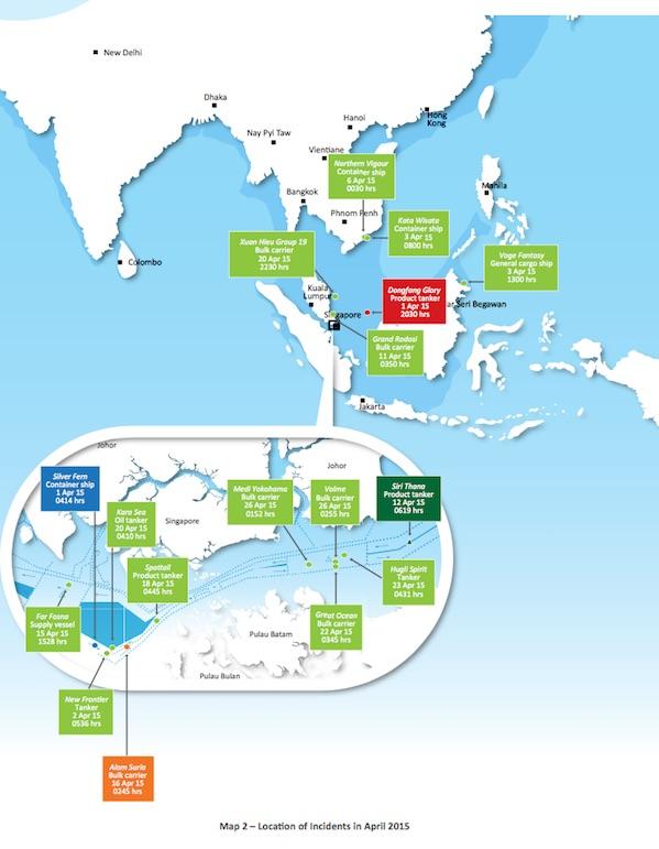Asia Incidents April. Courtesy of ReCAAP ISC