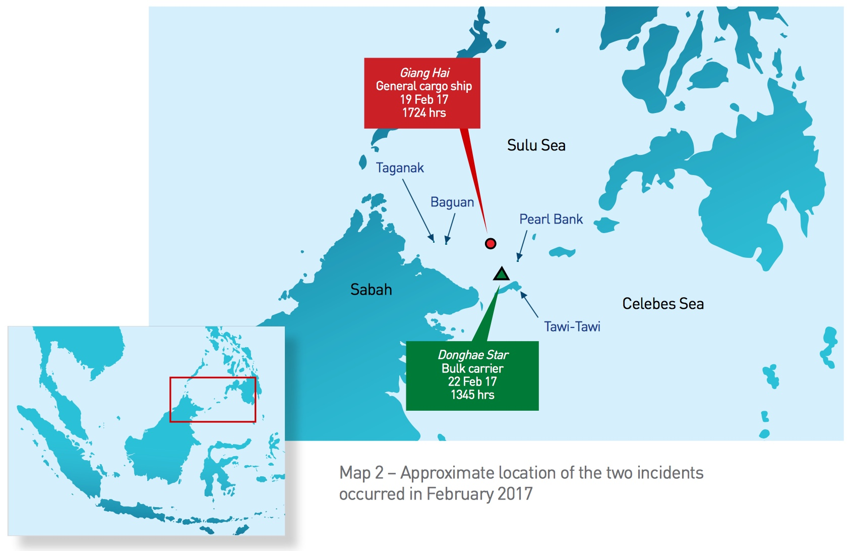 ReCAAP Map Sulu-Celebes Sea Incidents