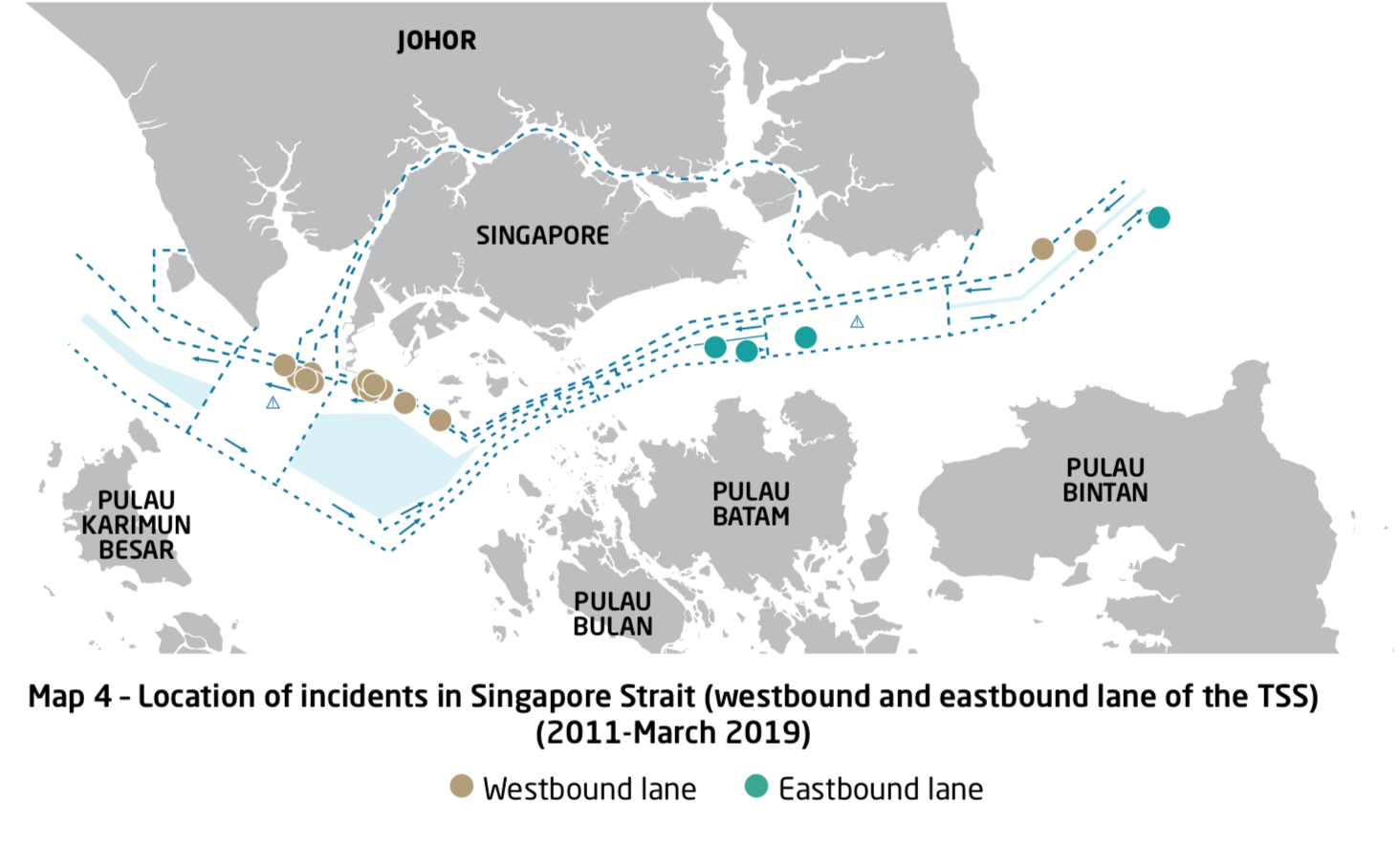 ReCAAP ISC  Map4  Location of Incidents in Singapore Strait