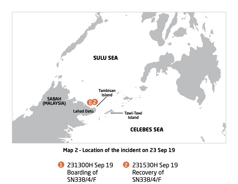 Map 2 - Location of the incident on 23 Sep. Courtesy of ReCAAP ISC