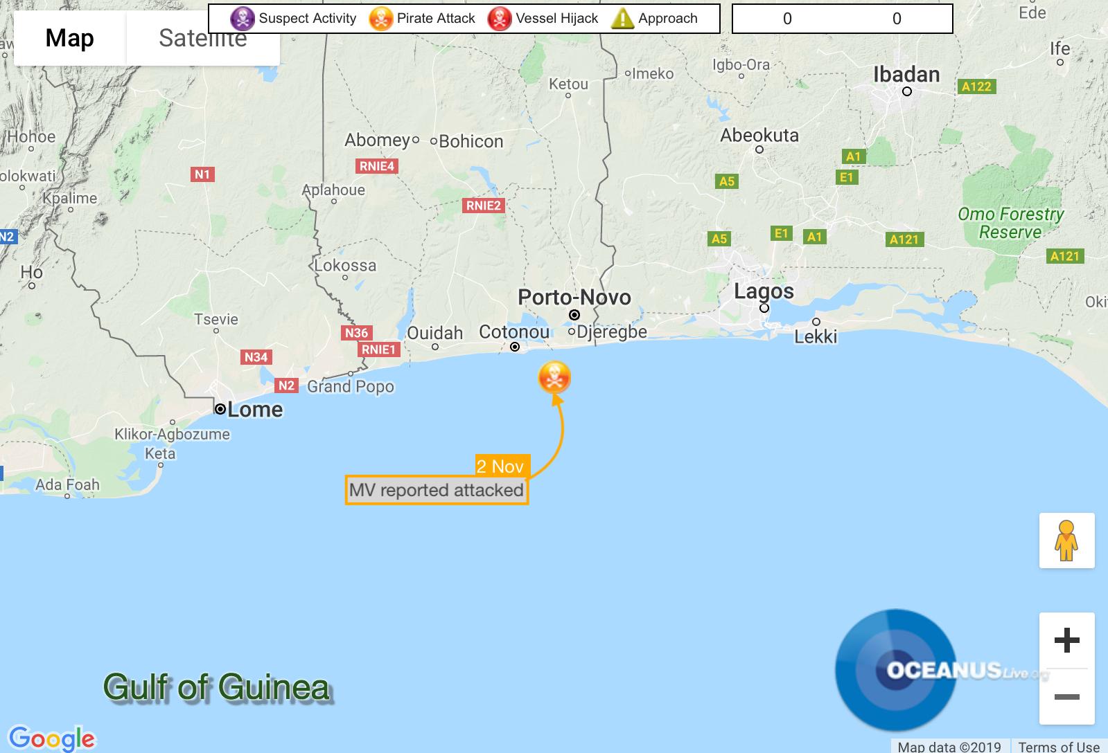 MV Bonita Attacked off Cotonou