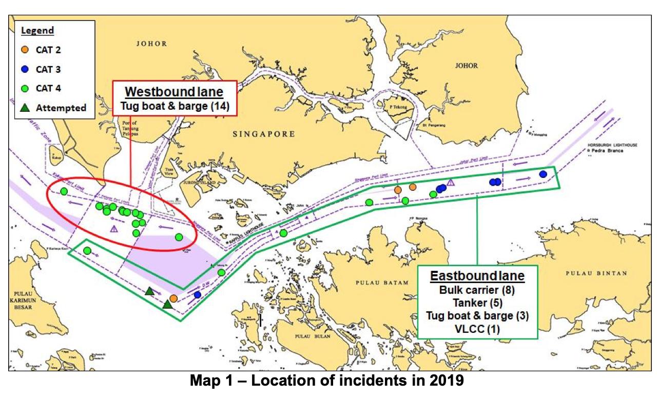 Location of Incidents 2019 Courtesy ReCAAP ISC