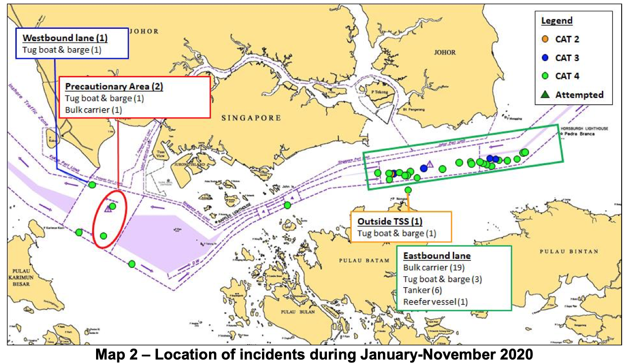 Locations of Incidents 2020 courtesy of ReCAAP ISC