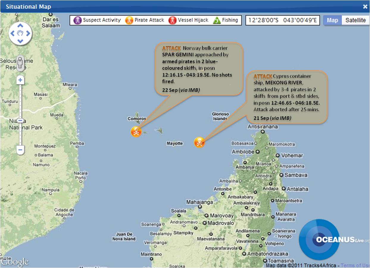 Advisory Notice on Activity in Mozambique Channel