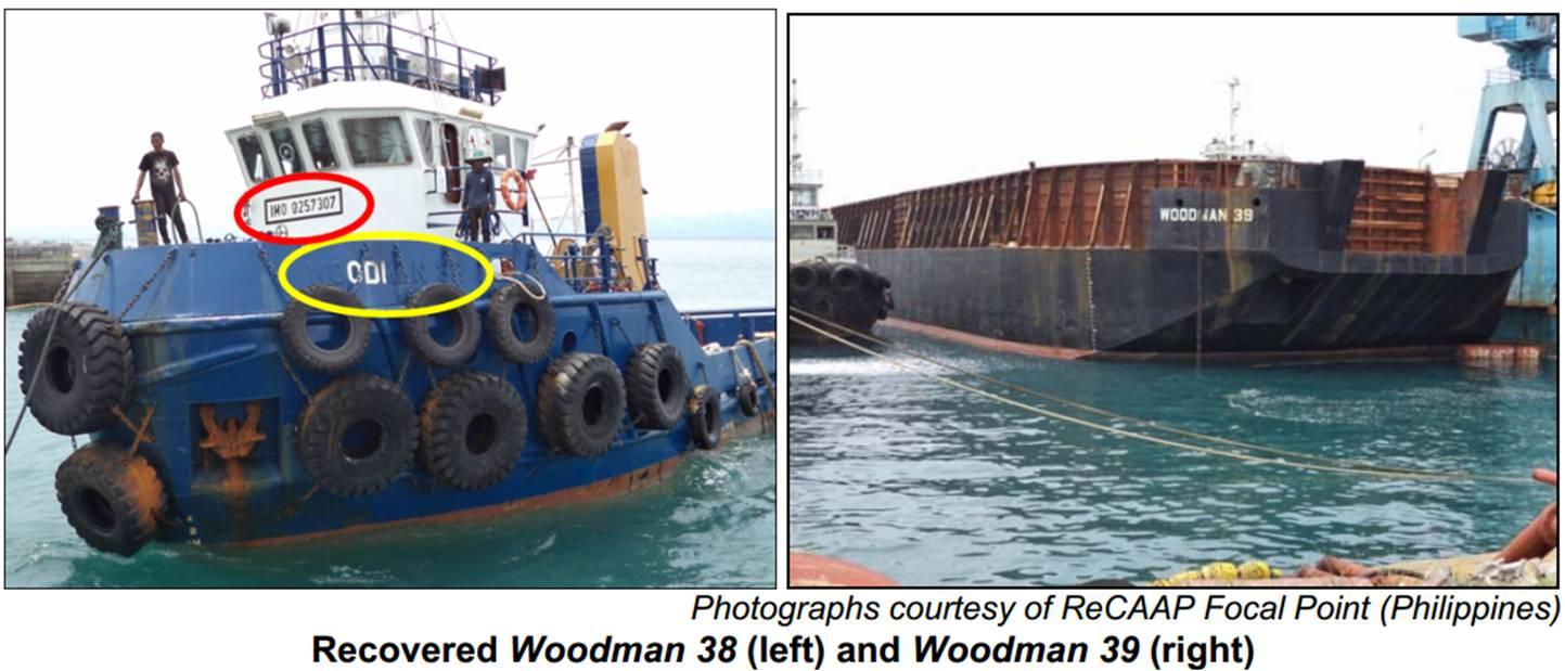 Woodman 38 and 39 - ReCAAP