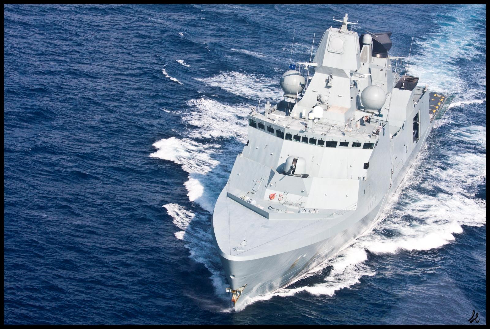 Danish warship Iver Huitfeldt Photo: NATO